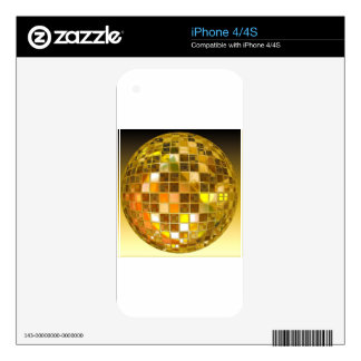 Ball Disco Ball Jump Dance Light Party Disco Decal For iPhone 4