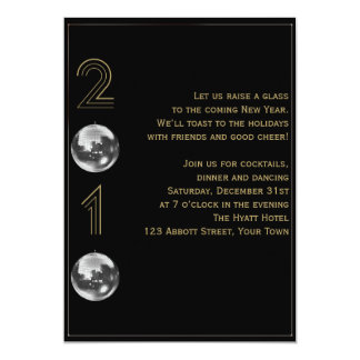 Ball Drop 2010 New Years Eve 5x7 Paper Invitation Card