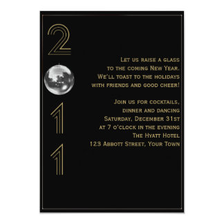Ball Drop 2011 New Years Eve 5x7 Paper Invitation Card