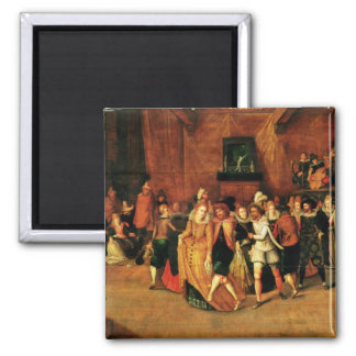 Ball during the Reign of Henri III, 1574-1623 2 Inch Square Magnet