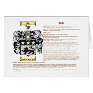 Ball (English(meaning)) Stationery Note Card