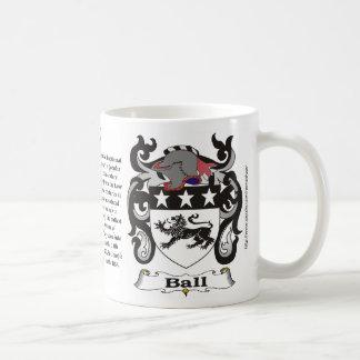 Ball Family Coat of Arms Mug