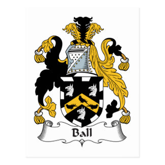 Ball Family Crest Postcard