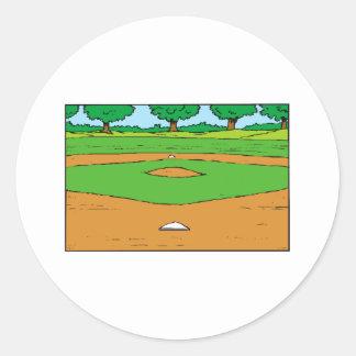 Ball Field Classic Round Sticker
