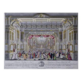 Ball following the coronation of Leopold Postcard