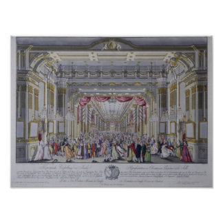 Ball following the coronation of Leopold Poster