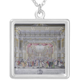 Ball following the coronation of Leopold Silver Plated Necklace