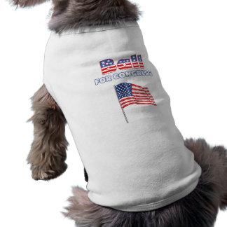 Ball for Congress Patriotic American Flag Pet Shirt