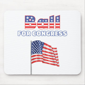 Ball for Congress Patriotic American Flag Mouse Pad