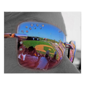 Ball Game Reflection Poster