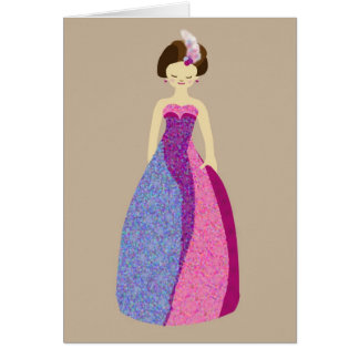 Ball gown card