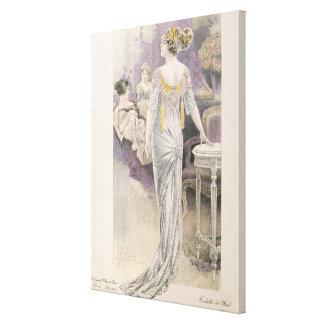 Ball gown, from 'Les Grandes Modes de Paris' Canvas Print