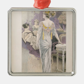 Ball gown, from 'Les Grandes Modes de Paris' Metal Ornament