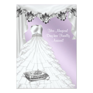 Ball Gown Lavender Purple Rose Quinceanera Card