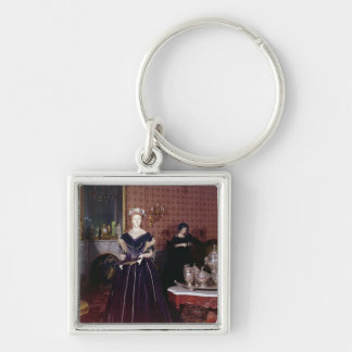 Ball gown of Mary Todd Lincoln Keychain