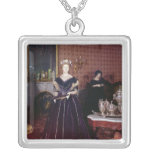 Ball gown of Mary Todd Lincoln Square Pendant Necklace