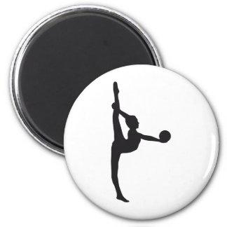 ball gymnastics 2 inch round magnet
