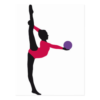 ball gymnastics postcard