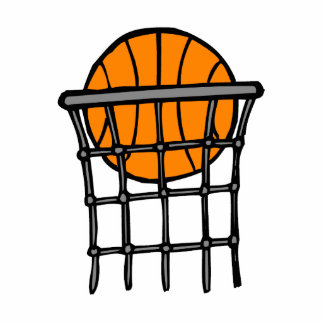 Ball in Basket Photo Cut Outs