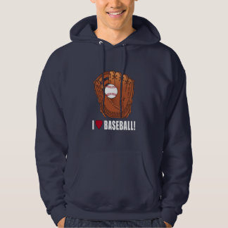 Ball In Glove I Love Baseball Hoodie