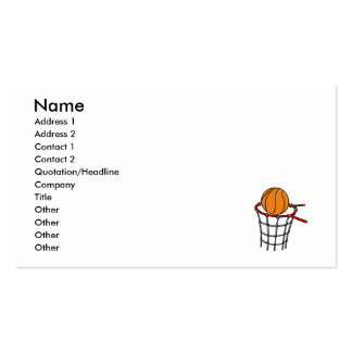 Ball in old metal basket business card