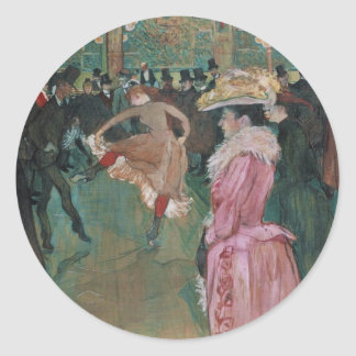 Ball In Rouge   By Toulouse-Lautrec Stickers