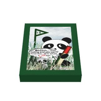 Ball in rough Panda Canvas Print