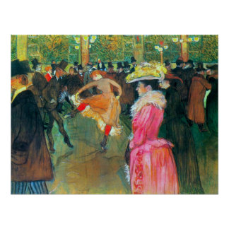 Ball in the Rouge by Toulouse-Lautrec Poster
