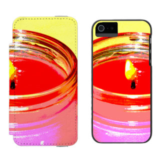 ball jar candle pop art iPhone SE/5/5s wallet case