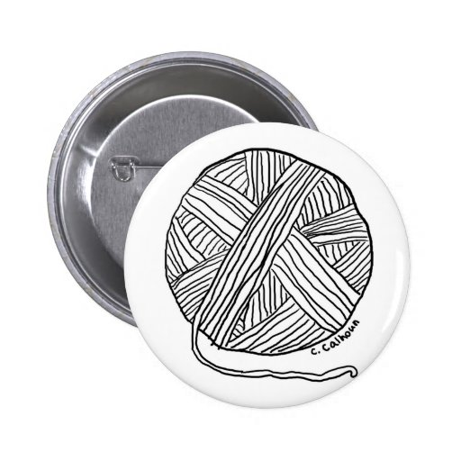 Ball o' Yarn 2 Inch Round Button