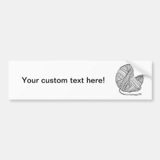Ball o' Yarn Car Bumper Sticker