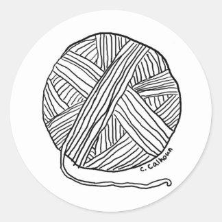 Ball o' Yarn Classic Round Sticker