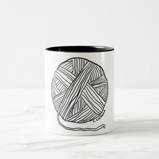 Ball o' Yarn Two-Tone Coffee Mug