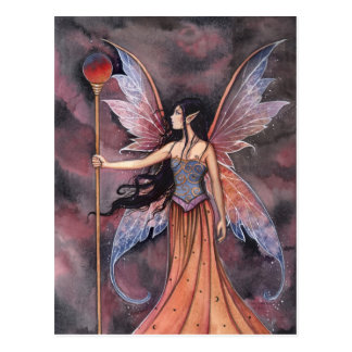 Ball of Fire Fairy Postcard by Molly Harrison