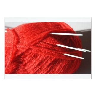 Ball of knitting/Crochet Yarn Invitation