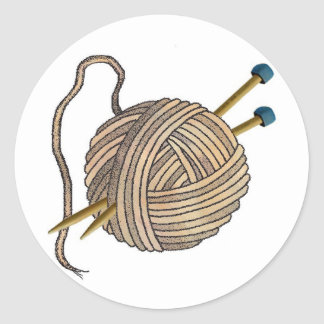 Ball of Knitting Wool Sticker
