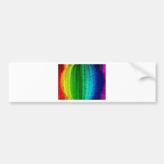 Ball of rainbow color car bumper sticker