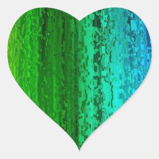 Ball of rainbow color heart sticker