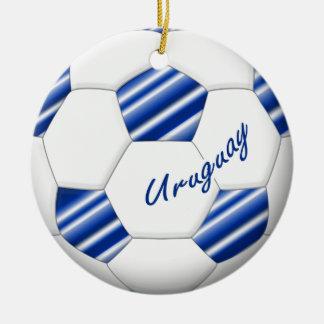 Ball of URUGUAY SOCCER national team 2014 Ceramic Ornament