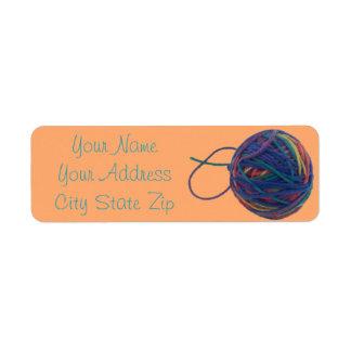 Ball of Yarn Address Label
