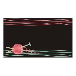 ball of yarn knitting crochet crafts business card