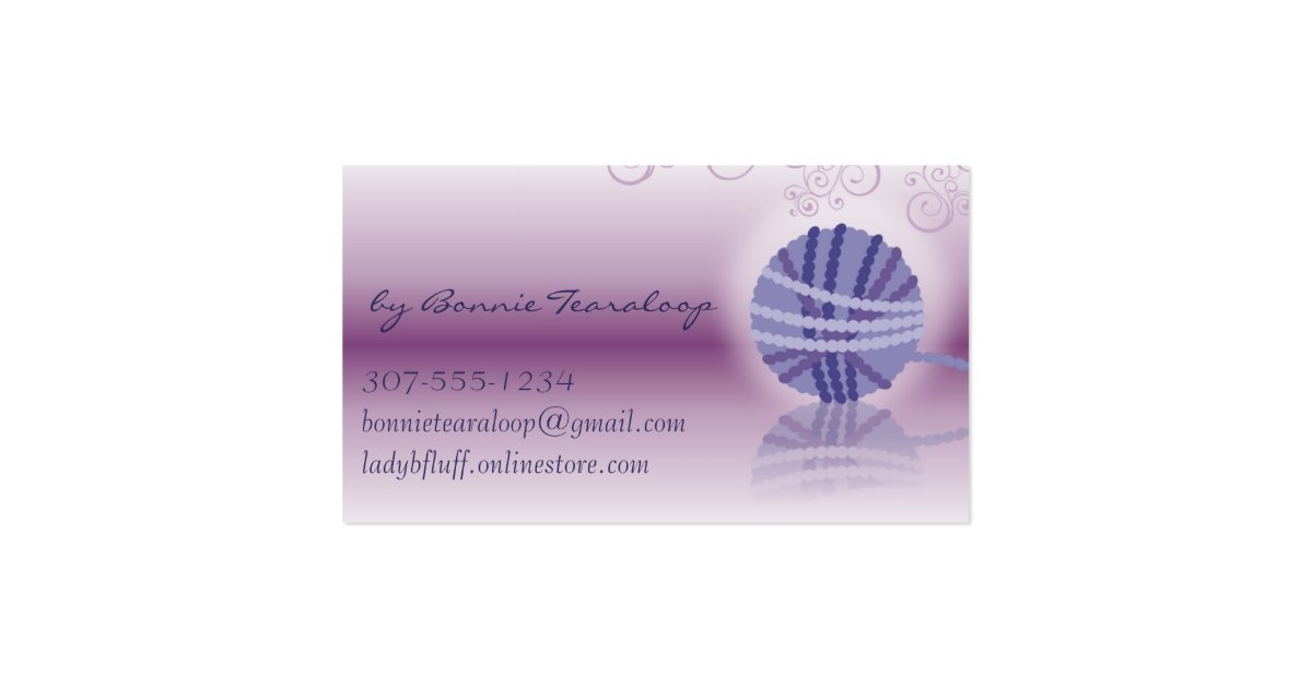 Knitting Logo Business Cards : Ball of yarn mirror reflection knitting crochet business