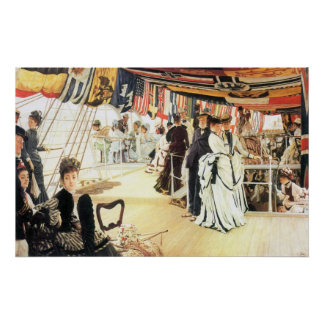 Ball on board by James Tissot Poster
