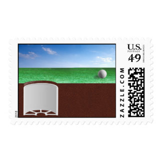 Ball on Green Postage Stamps