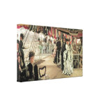 Ball on Shipboard by James Tissot Gallery Wrapped Canvas