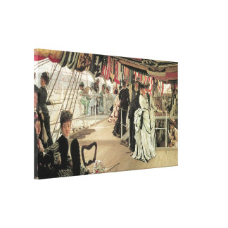Ball on Shipboard by James Tissot Canvas Print