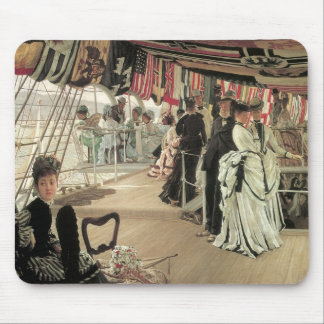 Ball on Shipboard by James Tissot Mouse Pad