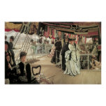 Ball on Shipboard by James Tissot Poster