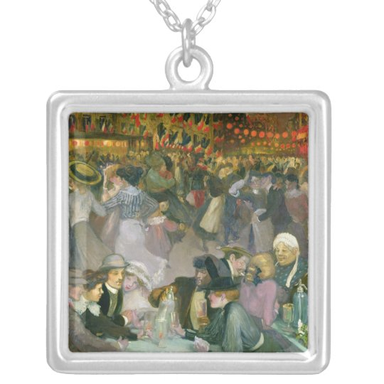 Ball on the 14th July Silver Plated Necklace