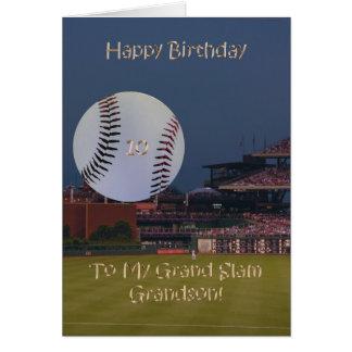 Ball Park 10th Birthday Grandson Card